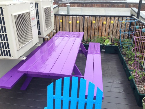 Garden planted, lights hung, multicolored deck chairs and picnic table built, salmon burgers in the freezer, big jambox and candles itching to be used and no sun for a week. Fuck you, rain. Fuck you very much.