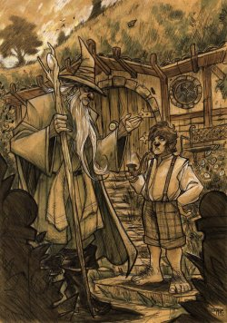 mae-govannen:  THE HOBBIT - Gandalf and Bilbo by ~DenisM79