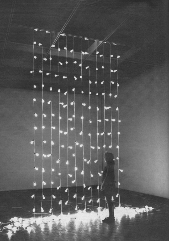 weepling:  Felix Gonzalez-Torres, Untitled, (North), 199312 light strings 22 lightbulbs each, extension cords, porcelain, as installed at Milwaukee Art Museum. Photo by Efraim Lev-er