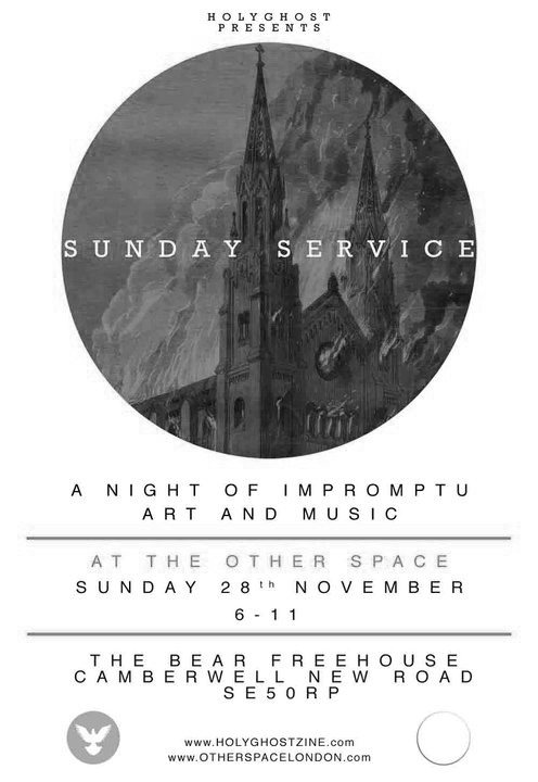 Sunday Service hosted by Holy Ghost Zine. http://exhibitions.holyghostzine.com/