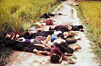 thats-the-way-it-was:   March 16, 1968: The My Lai Massacre On this day in 1968, a platoon of American soldiers brutally kill between 200 and 500 unarmed civilians at My Lai, one of a cluster of small villages located near the northern coast of South Vietnam.  The soldiers had been advised before the attack by army command that all who were found in My Lai could be considered VC or active VC sympathizers, and told to destroy the village. Still, they acted with extraordinary brutality, raping and torturing villagers before killing them and dragging dozens of people, including young children and babies, into a ditch and executing them with automatic weapons. The massacre reportedly ended when an Army helicopter pilot, Warrant Officer Hugh Thompson, landed his aircraft between the soldiers and the retreating villagers and threatened to open fire if they continued their attacks. (History.com) Photo by Ronald S. Haeberle//Time Life Pictures/Getty