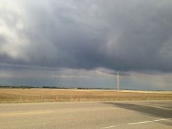 Typical Alberta May long skies.   Need to get a Long ride in tomorrow, regardless of how threatening those clouds are. My first century ride is around the corner.