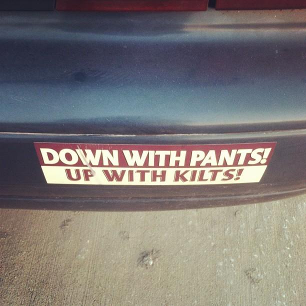 I was amused #kilts #nopants #eveninthebritishsense