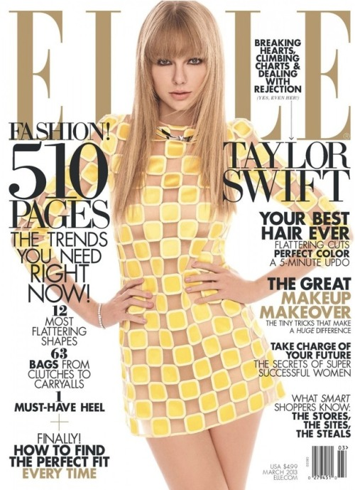 Check out Taylor Swift in the latest issue of Elle magazine! She looks amazing on the cover and in the photo shoot. Also, the singer states that, despite popular opinion, she does NOT chase boys. Click the pic to read more!