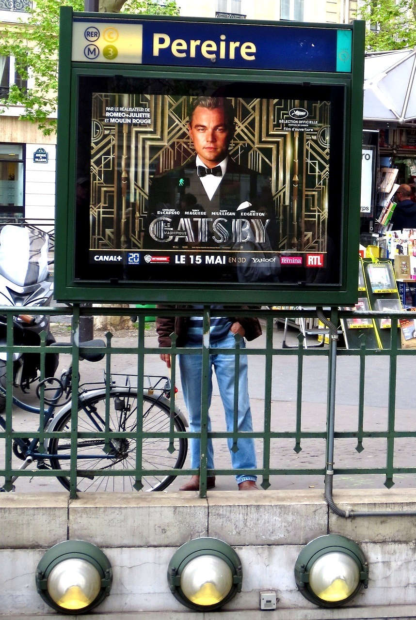 newsweek-paris-france:  Gatsby at Place Pereire metro (remix)