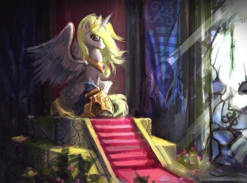 Derpy Throne by ~bloodrizer