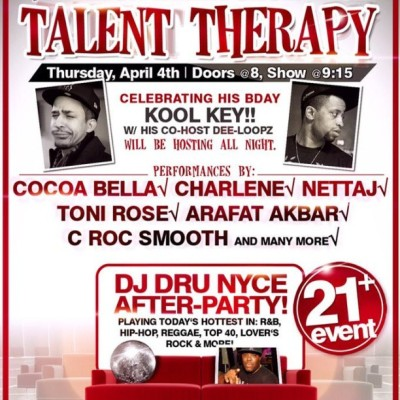TALENT THERAPY / BTS APRIL 4TH / AFTER-PARTY WITH @SOSODEF'S @DJDRUNYCE at SLADES BAR & GRILLE (TREMONT ST BOSTON)