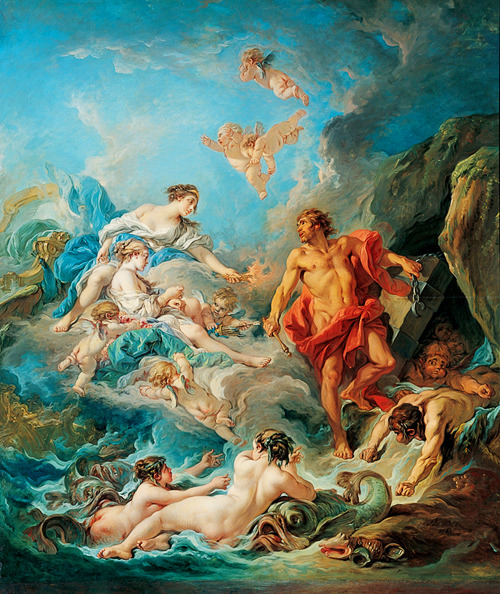 jaded-mandarin:  François Boucher. Juno Asking Aeolus to Release the Winds.