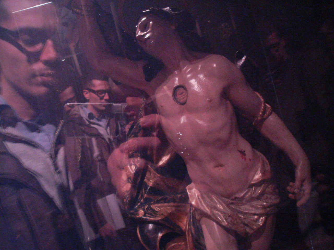 imtackyandihateyou:  Me and Saint Sebastian and me and me and me.