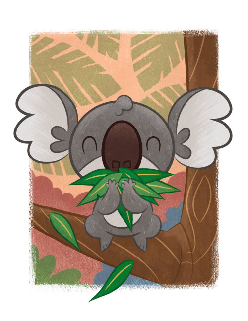 seancelaya:  I hear my niece is all about koalas right now, so I made her this. :)  This is the happiest koala ever.