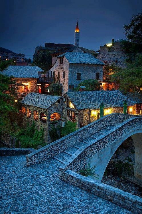 bluepueblo:  Ancient Village, Mostar, Bosnia and Herzegovina photo via besttavelphotos