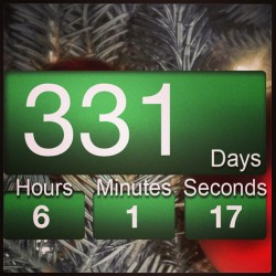331 days till Christmas everyone 😍🎅❤⛄🎄❄ #sorrynotsorry #christmas #santa #yeeee