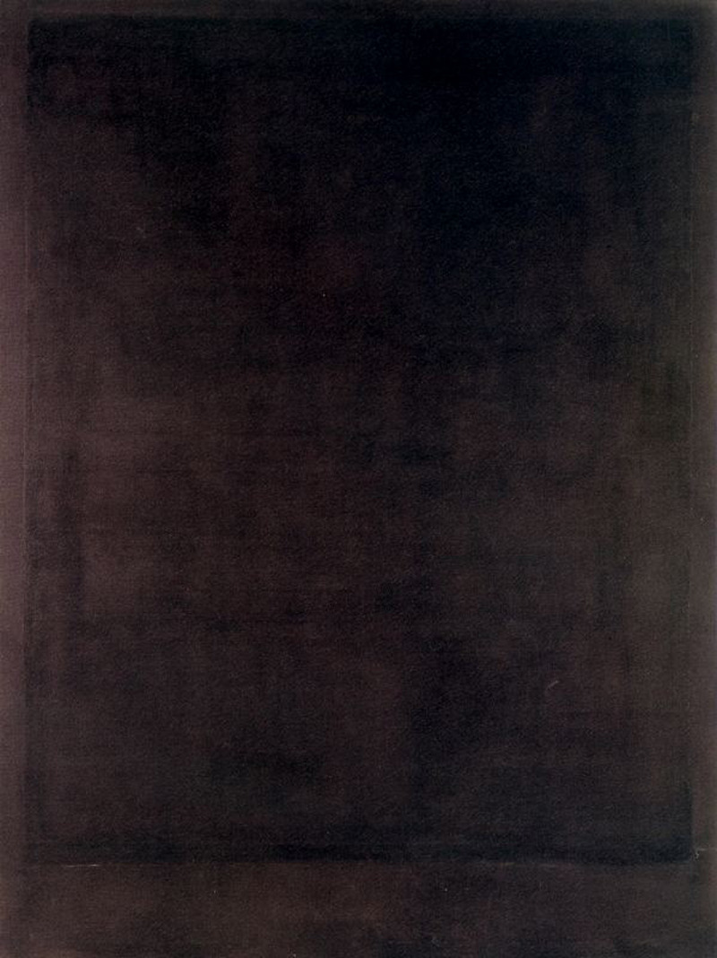 nobodysdiary:  Mark Rothko - Black Form Painting No. 8 (1964)