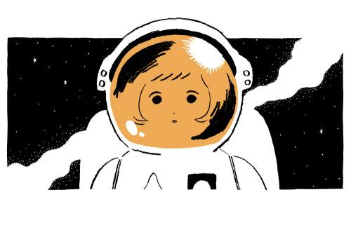 girl cosmos space Spacesuit illust minami kitamura 北村みなみ