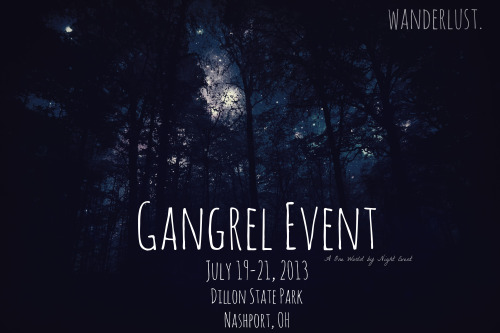 owbn:  Who is excited for the Gangrel Event? A fantastic weekend in beautiful Dillon State Park! We can't wait to see you! July 19-21, 2013 Dillon State Park http://www.dnr.state.oh.us/dillon/tabid/730/Default.aspx  FB site: https://www.facebook.com/groups/204214179688521/