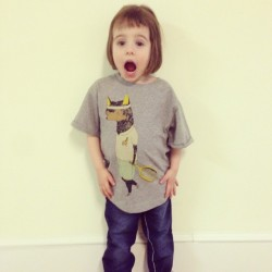 The cutest kid ever modelling my tshirt design for the #softgallery spring/summer collection