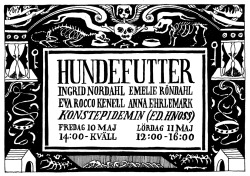 Exhibition at Konstepidemin in Gothenburg next friday. With Ingrid Nordahl, Emelie Röndahl and Eva Rocco Kenell. Come and eat left overs!