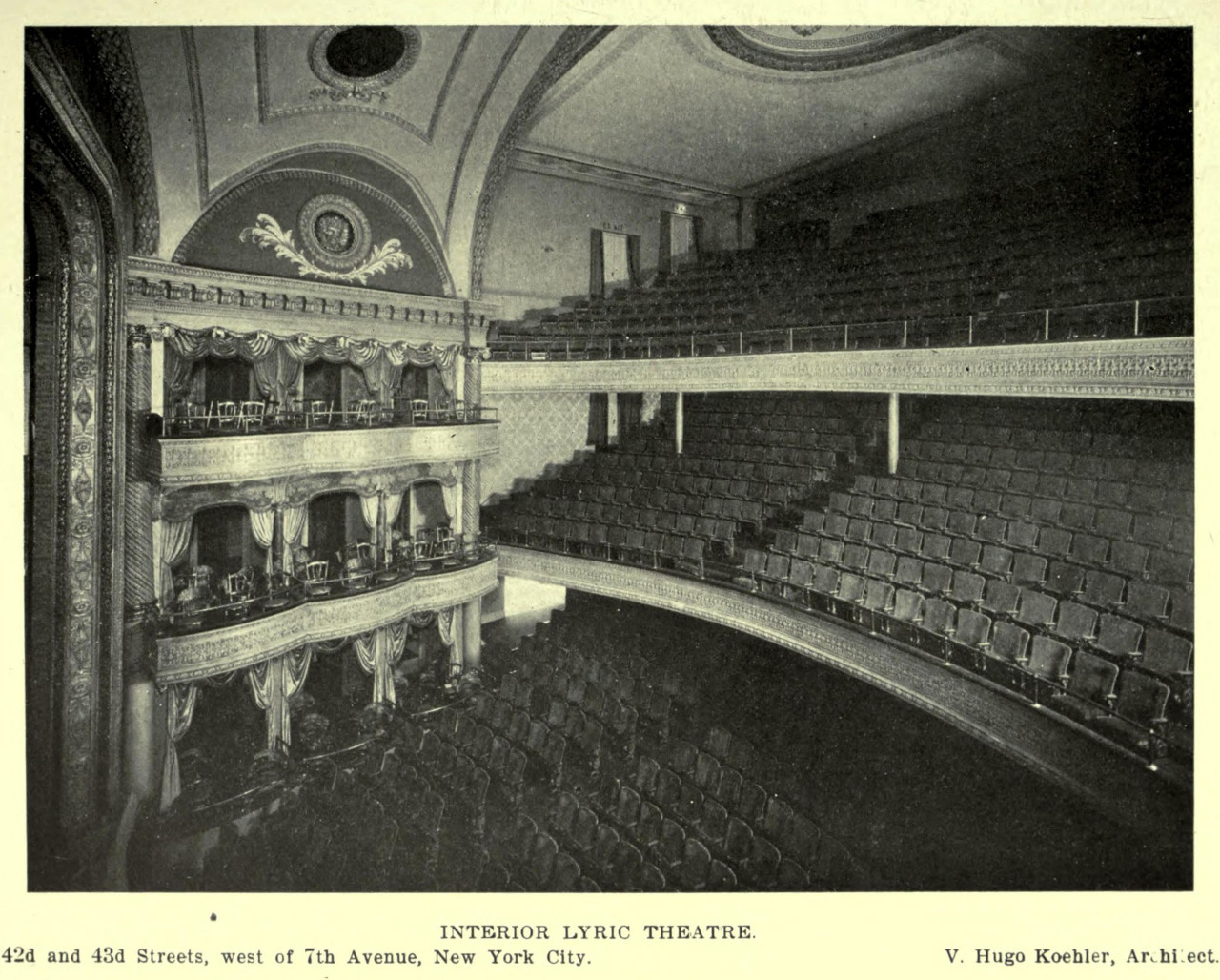 Inside the Lyric Theatre, New York City