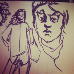 Day #23 - subway doodles  #sketches