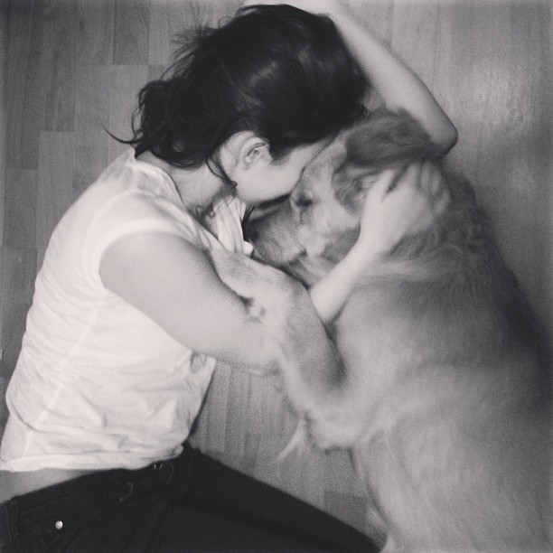 #me #girl #dog #love #instagram
