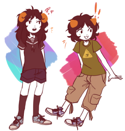 the-strider-squad:  fav troll and patron troll in a couple of my outfits just because eheheeehhh what is fashion