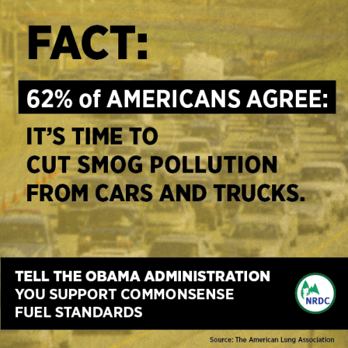 Tell the Obama Administration to stand up to big oil and finalize cleaner gasoline and vehicle fuel standards: http://bit.ly/15bVEeB