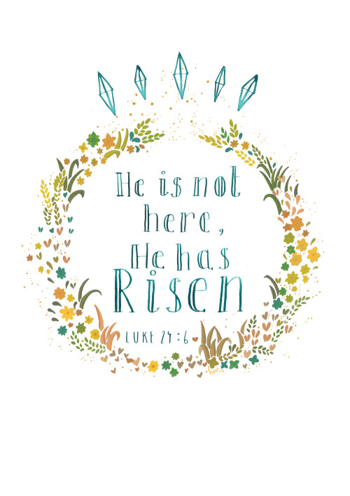 'He is not here, He has risen' Card… Will be available to buy soon.