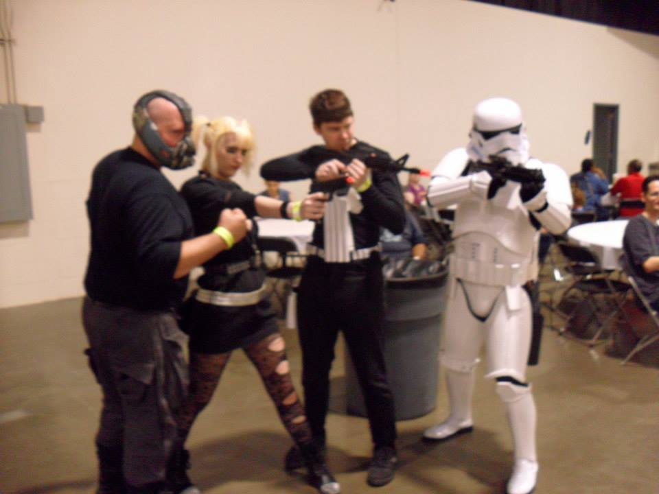 A couple more from Friday at MCCC 2013. Roxy Richter! Bane, Stormtrooper, Nightwing, and Psy.