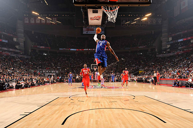 LeBron James soars to the basket during Sunday's All-Star Game. (Greg Nelson/SI) GALLERY: Rare Photos of LeBron James