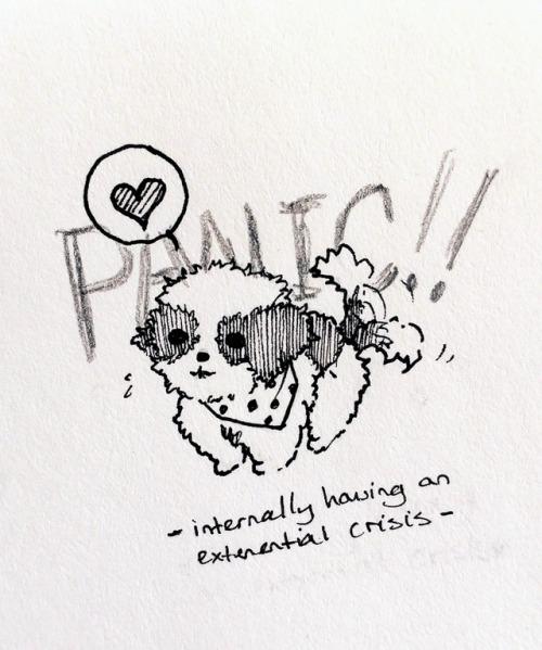 art drawing ink dog shih tzu corgi chow chow french bulldog my art traditional