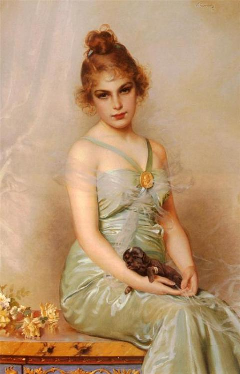 suicideblonde:  The Wounded Puppy (1899) by Vittorio Matteo Corcos