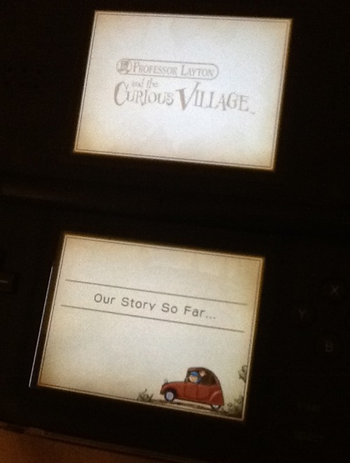 ilikeanimeandotome:  Replaying all the Professor Layton games again~