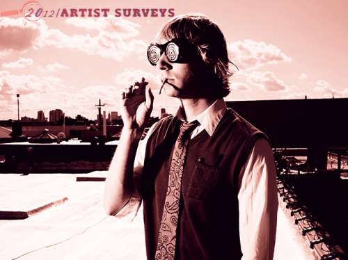 For Under the Radar's 10th annual Artist Survey we emailed some of our favorite artists a few questions relating to 2012. Pick up the print version of the Best of 2012 issue to read responses from the following artists: Alt-J, Fred Armisen, Bear in Heaven, Camera Obscura, Chad Valley, Charli XCX, Choir of Young Believers, Clinic, CSS, Dan Deacon, Desaparecidos, Django Django, Efterklang, Egyptian Hip Hop, El Perro Del Mar, Grimes, Halls, Richard Hawley, Hercules and Love Affair, Ladytron, Liars, Lord Huron, Lower Dens, Mount Eerie, My Morning Jacket, The Mynabirds, The New Pornographers, of Montreal, Peaking Lights, Porcelain Raft, Laetitia Sadier, Tame Impala, and Tegan and Sara. Then download the digital version of the Best of 2012 issue to read all those surveys, as well as bonus responses from the following artists: !!!, Clare and the Reasons, Codeine, Dale Earnhardt Jr. Jr., Esben and the Witch, The Fresh & Onlys, Get People, Islands, Kwes, Lost in the Trees, NZCA/LINES, OFF!, Plants and Animals, Still Corners, Violens, Xiu Xiu, Young Dreams, and Zambri. We are also posting additional web-exclusive artist survey interviews to the website. Here are responses from Morgan Z of Chrome Canyon. (via 2012 Artist Survey: Chrome Canyon - Morgan Z Reflects on the Last Year | Under The Radar)