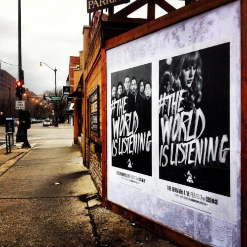 #TheWorldIsListening artwork spotted in Chicago!