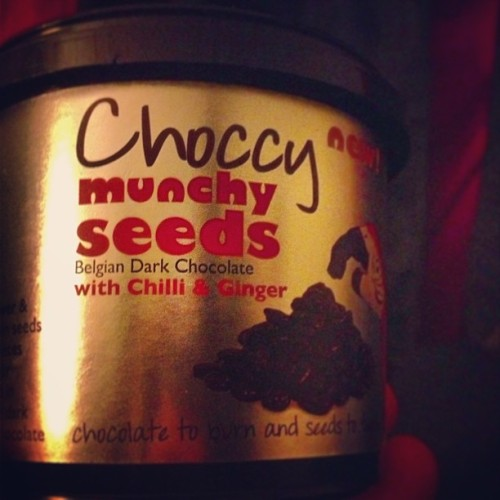 Choccy Seeds by Munchy Seeds brand: Sunflower seeds and ginger pieces covered with chili-infused Belgian dark chocolate. #BlackRobToldYaLikeWhoa
