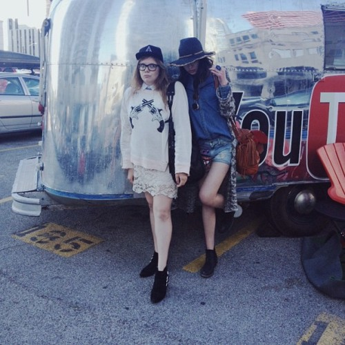 Gunslinging Austin partner in crime @natalieoffduty cc @wildfoxcouture