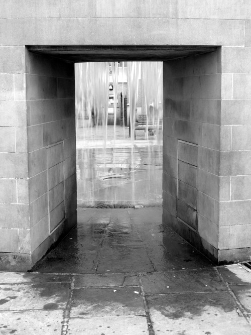 Water feature. Derby, February 2013.