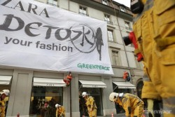 Zara Pledges to Eliminate All Toxic Chemicals After Greenpeace Campaign- Adele Peters posted in Design, Business and Sustainability  Zara, the world's largest fashion retailer, has agreed to remove toxic chemicals from its clothing by 2020—thanks to a week of intense pressure from consumers (including the GOOD community) in a campaign led by Greenpeace.
