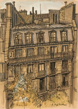 darksilenceinsuburbia:  Franz Fedier .The Front of 7, Rue Rachel, 1949.     In Wikipedia