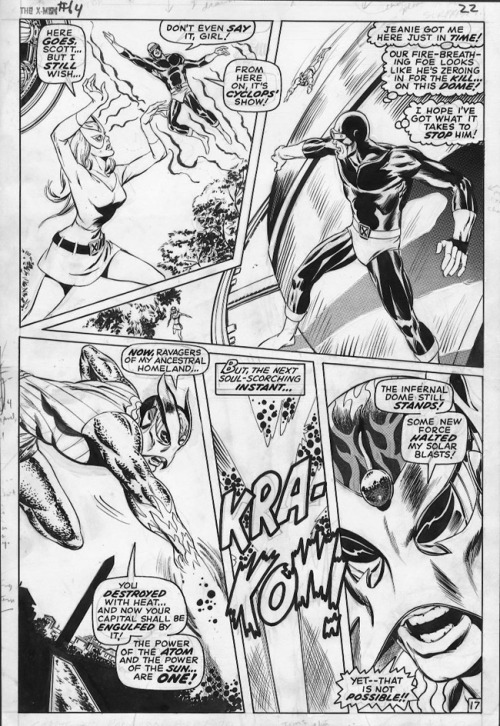 A page from X-MEN #64 by Don Heck and Tom Palmer.