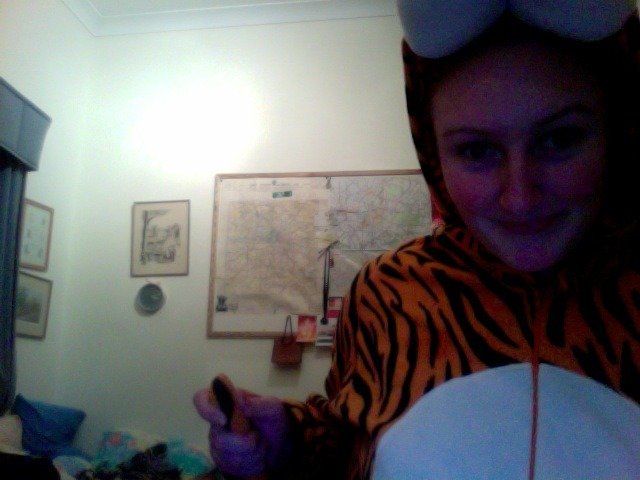 In my spare time I like to think I am a tiger. I also enjoy having a tail.