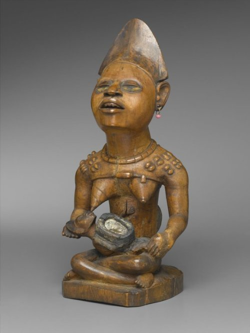 centuriespast:  Figure of Mother and Child (Phemba) Culture: Kongo (Yombe subgroup) Medium: Wood, beads, glass mirror, metal, resin Possible Place Made: Kongo Central Province, Democratic Republic of the Congo Dates: 19th century Brooklyn Museum