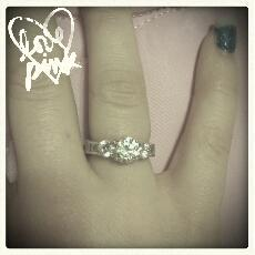 My new promise ring from my boyfriend, Dalton. He gave it to me for Christmas!:D (Taken with Pink Nation Android)      I added this cool filter on the PINK Nation app. Download it now to PINK your pics!