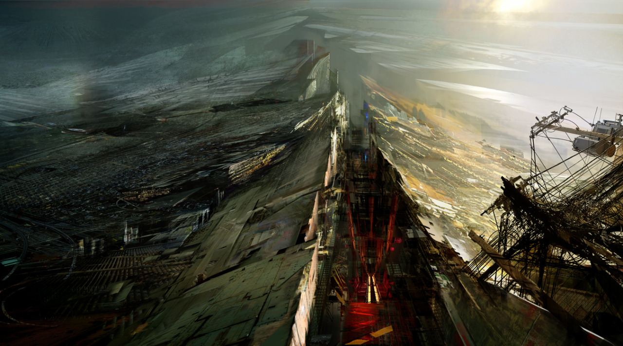 urbanlabglobalcities:  Daniel Dociu, a sci-fi and fantasy artist in the entertainment industry, contributed to Under Tomorrows Sky a project directed by Liam Young of Tomorrows Thoughts Today, Unknown Fields Division and co-curator of the Lisbon Architecture Triennial 2013. These images are parts of his personal work and other contributions. Enjoy Dociu's work and more can be seen and appreciated in his website…  About Under Tomorrows Sky, see also my post on Rachel Armstrong's lecture for Under Tomorrows Sky.