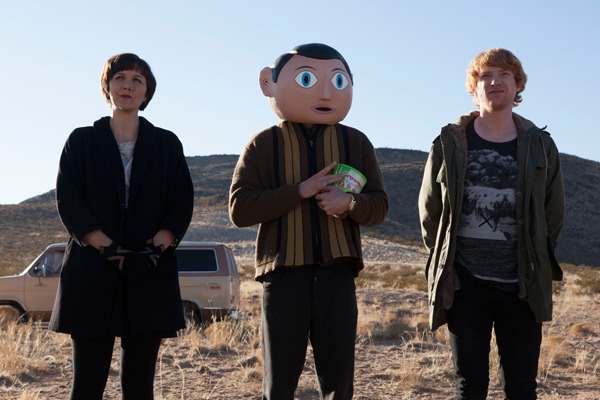 "First Photo Of Michael Fassbender As Frank Here's the first photo from the set of Frank - a new film directed by Lenny Abrahamson and loosely inspired by Chris Sievey's cult comedy/music hero, Frank Sidebottom. The script has been written by Jon Ronson (The Men Who Stare At Goats) and Peter Straughan (Tinker Tailor Soldier Spy, The Men Who Stare At Goats) and is based on Ronson's memoir Frank and, according to the press release, the stories of ""outsider musicians like Daniel Johnston and Captain Beefheart.""   Domhnall Gleeson and Maggie Gyllenhaal also star."