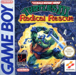 vgjunk:  Teenage Mutant Ninja Turtles III: Radical Rescue, Game Boy.Leo… you're scaring me, Leo.  Leo?  Leo, did you take all the pills?  i really don't think you can make it through that 2 foot thick concrete wall with just a sword…