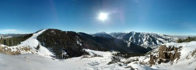 Hiked up peanut butter ridge on aspen mountain today. I really do live in paradise.