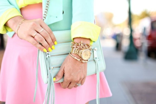 thetemptresss:  pastels and neons  Paleta de color.Tendencia  2013.