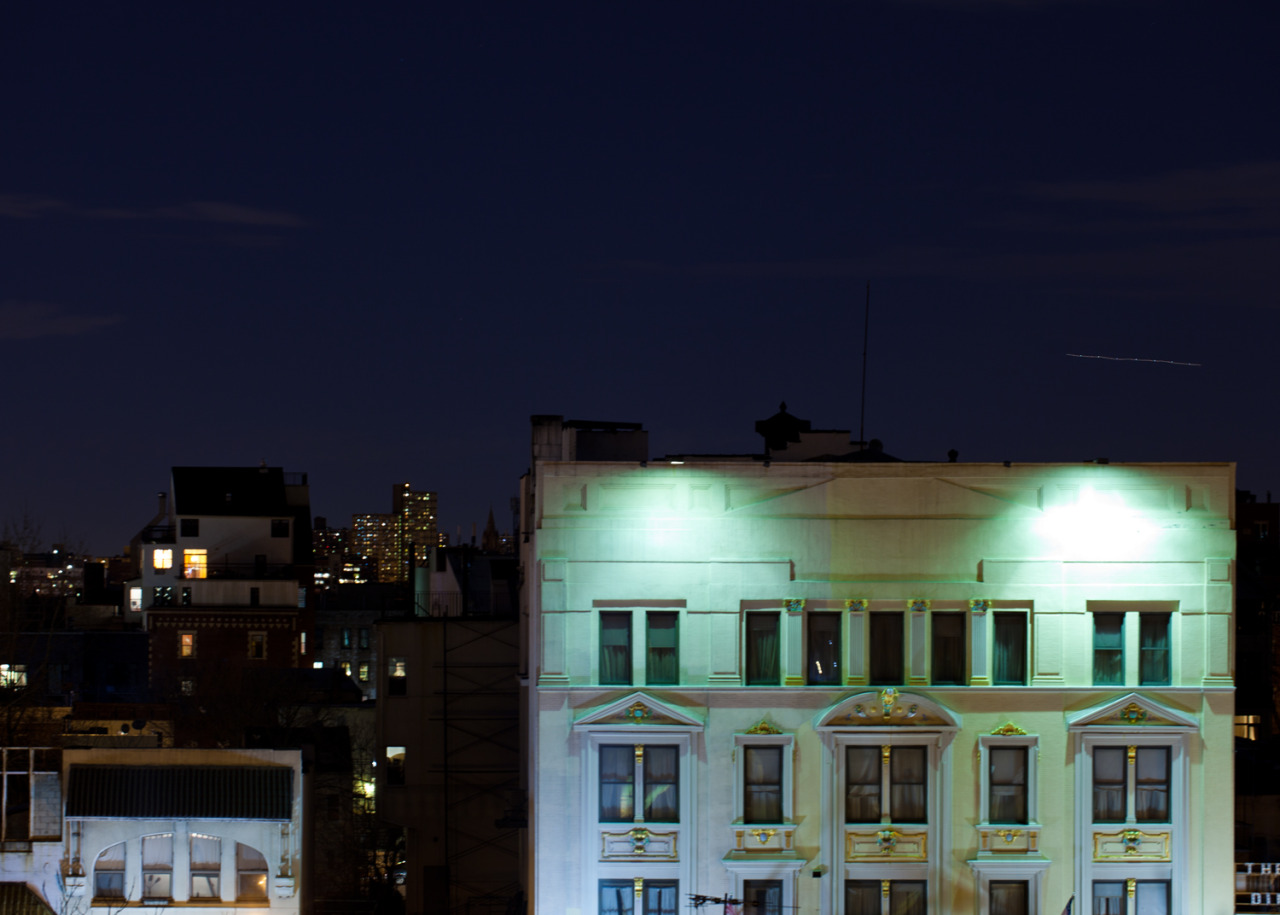 the hall, brooklyn, view from the roof, march 2013. by matthew cylinder