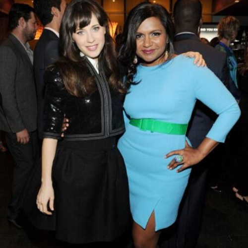 zooeydeschanel:  Upfronts 2013!!!! With miss Mindy Kaling!